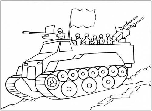 Раскраска с солдатами онлайн